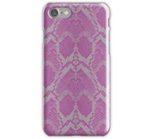 Pink and White Python Snake Skin Reptile Scales iPhone Case/Skin