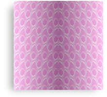 Pink and White Python Snake Skin Reptile Scales Canvas Print