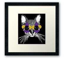 Purple and Gold Pardi Animal (Without the crown and words) Framed Print