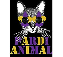 Purple and Gold Pardi Animal (Without the crown) Photographic Print