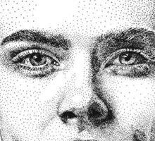 Cara Delevingne - Black and White Sticker