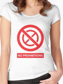 NO PROHIBITIONS Women's Fitted Scoop T-Shirt