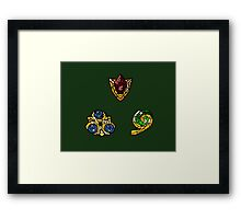 Stained Glass Spiritual Stones Framed Print