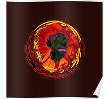 Flower in the globe Poster