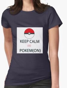 Keep Calm And Pokem(on) Womens Fitted T-Shirt