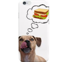 Pitbull dreaming of sandwiches iPhone Case/Skin