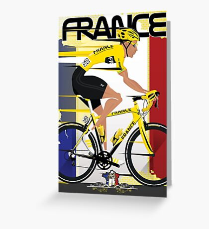 Tour De France Greeting Card