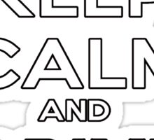 Keep Calm And Drive Fast Sticker