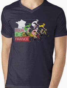 Tour De France Mens V-Neck T-Shirt