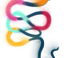 Snake graffiti illustration by nobra
