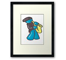 Blue Sax Man Framed Print