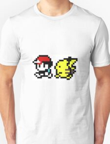 Pikachu and Ash 8-Bit Unisex T-Shirt
