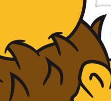 apfel lecker essen stacheln baby comic cartoon süßer kleiner niedlicher igel  Sticker