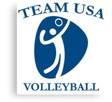 Team USA VOLLEYBALL Canvas Print