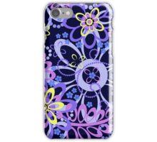 Summer night floral pattern iPhone Case/Skin
