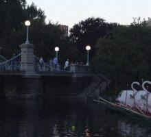Boston Public Gardens In Early Evening Sticker