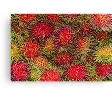Rambutan Fruit Canvas Print