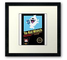Yo-Kai Watch old school Nintendo game Framed Print