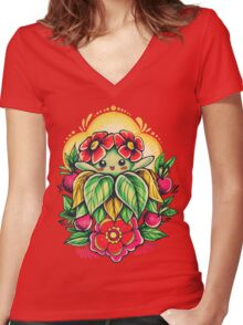Bellossom Women's Fitted V-Neck T-Shirt