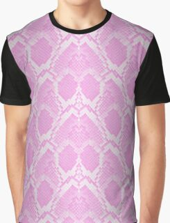 Pale Pink and White Python Snake Skin Reptile Scales Graphic T-Shirt