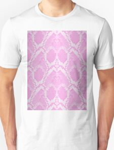 Pale Pink and White Python Snake Skin Reptile Scales Unisex T-Shirt