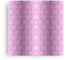 Pale Pink and White Python Snake Skin Reptile Scales Canvas Print