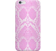 Pale Pink and White Python Snake Skin Reptile Scales iPhone Case/Skin