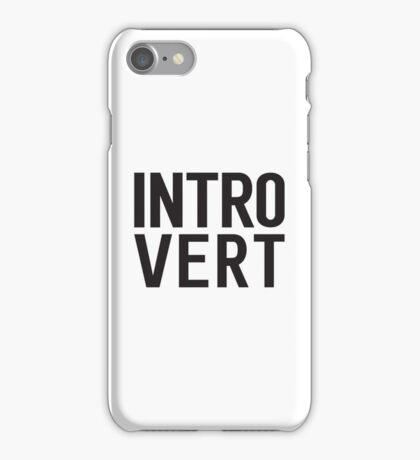 Introvert bold print iPhone Case/Skin