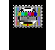 TV Test Pattern T-shirt - Big Bang Theory Inspired Sheldon's Tee Photographic Print
