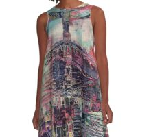 Totem Log Cabin Abstract - Multi A-Line Dress