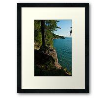 Grand Island Cliffs Framed Print