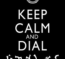 Keep Calm and Dial Earth (white) by boogiebus