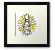 The Big Lebowski DUDE bowling art Framed Print