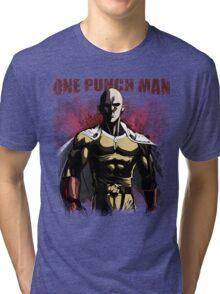 Caped Baldy Saitama Tri-blend T-Shirt