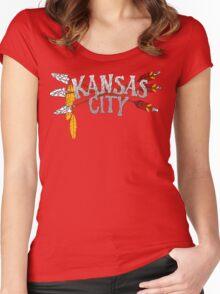 Kansas City Arrow [RED] Women's Fitted Scoop T-Shirt