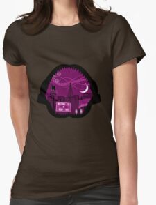 Jaws Welcome to Night Vale Landscape Womens Fitted T-Shirt
