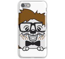 anzug fliege grinsen spange nerd geek schlau dumm intelligent freak lustig frech teenager hornbrille igel comic cartoon  iPhone Case/Skin