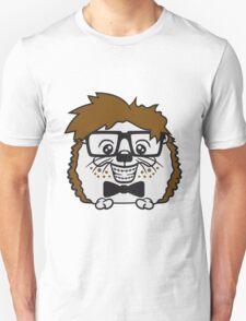 anzug fliege grinsen spange nerd geek schlau dumm intelligent freak lustig frech teenager hornbrille igel comic cartoon  Unisex T-Shirt
