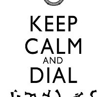Keep Calm and Dial Earth (black) by boogiebus