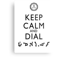 Keep Calm and Dial Earth (black) Metal Print