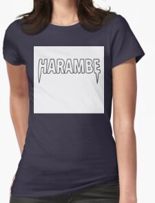 Harambe x Yeezus  Womens Fitted T-Shirt