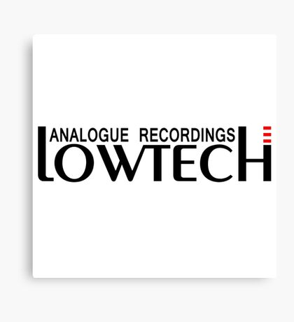 Lowtech analogue recordings black Canvas Print