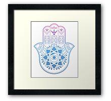 Hamsa. Hand of Fatima. Framed Print