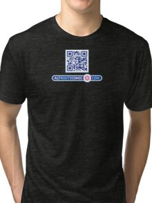 QR Code and Dot Com Logo Tri-blend T-Shirt