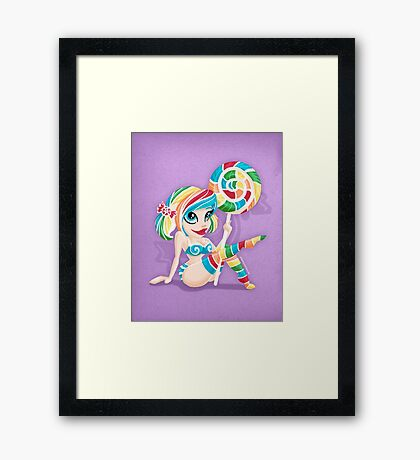 Sweet <3's - Miss Candy Framed Print