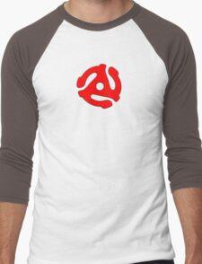 vinyl record red adapter Men's Baseball ¾ T-Shirt