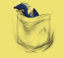 Little Dragon In My Pocket 1 - Blue Kids Clothes