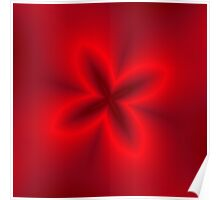 Neon Red Flower Poster