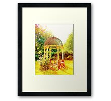 Old Fashioned Gazebo- Unique Photography  Framed Print