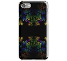 Tetris-like Abstract Black Colorful Rainbow Geometric Pattern iPhone Case/Skin
